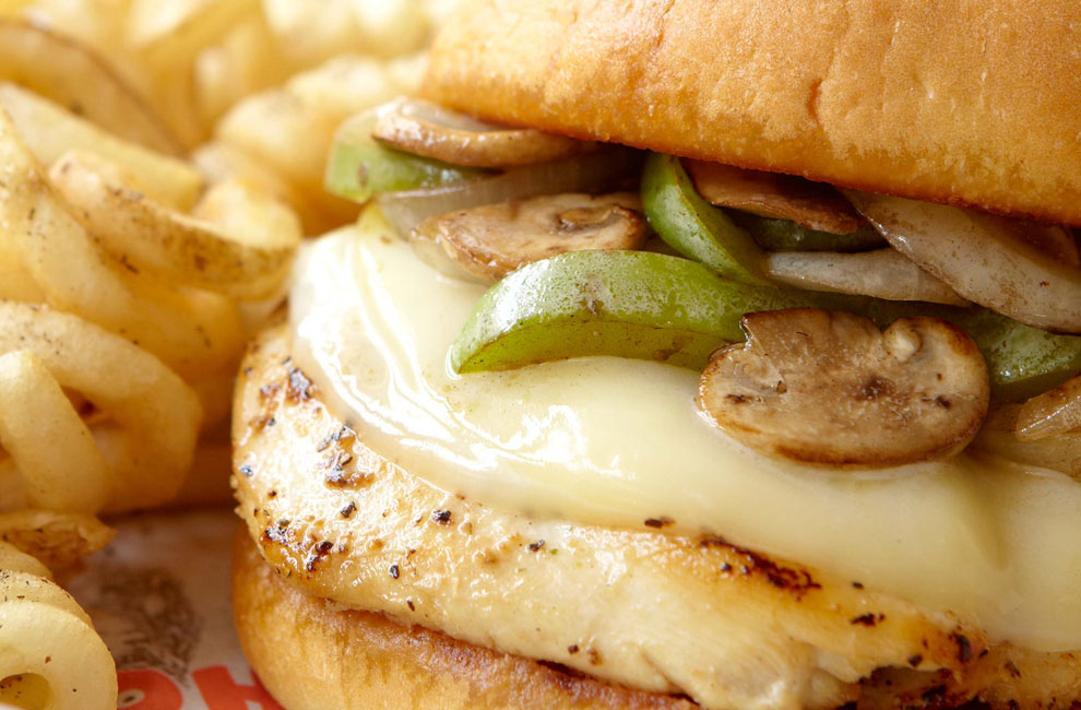 SMOTHERED CHICKEN SANDWICH